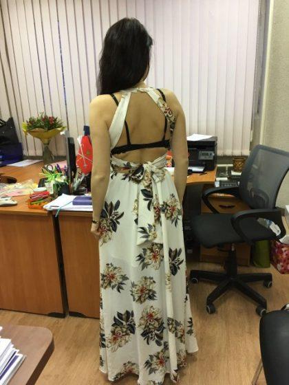 Chiffon Long Dress Women Backless Maxi Dresses