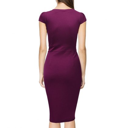 Cotton Blend Stretch Sheath Dress