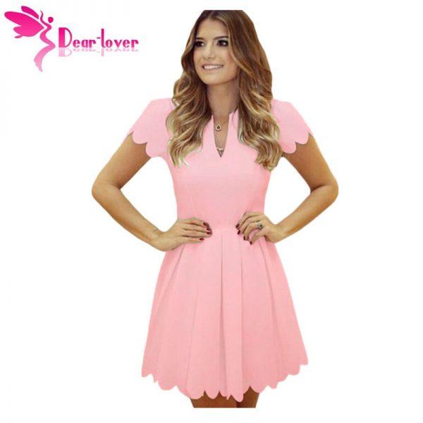 Princess Style A-line Mini Dresses Sweet Short Sleeve
