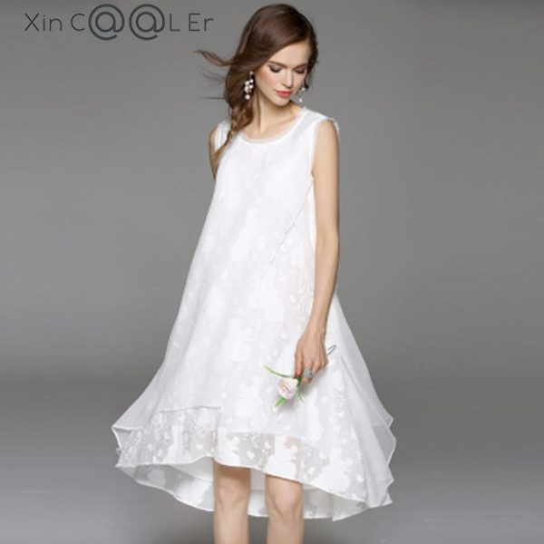 Summer Cotton Linen Dress Women Long Dresses