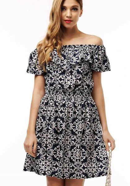Summer Dress Floral Print Pattern Casual Dresses