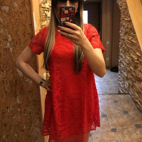 Summer Dress Women Hollow Out Lace Sexy Dress