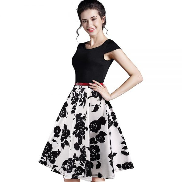Summer Floral Dress Casual Stylish Print Dresses