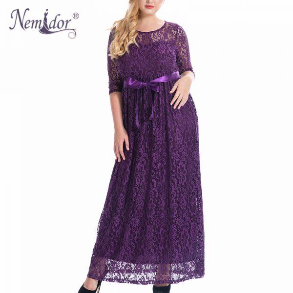 Summer Long Maxi Dress Belted Lace Dress