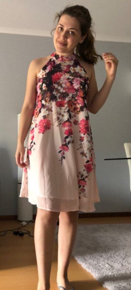 Summer Short Dresses Floral Sleeveless Shift Dress