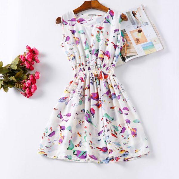 Summer Women Dress Vestidos Print Casual Beach Dress