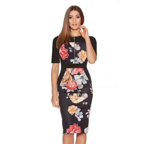 Women Summer Dresses Vintage Floral Bodycon
