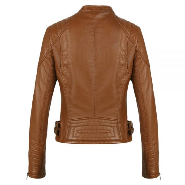 Bomber Motorcycle Leather Jackets Women Coat