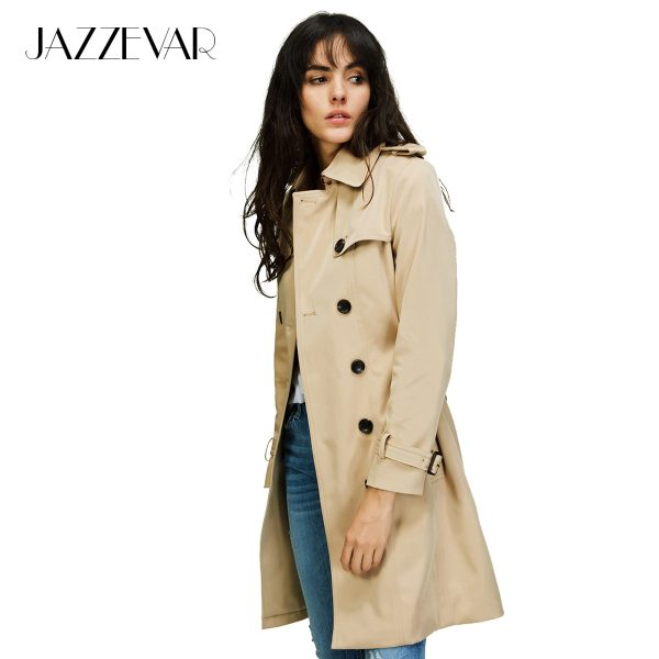Double Breasted Trench Coat Waterproof Raincoat