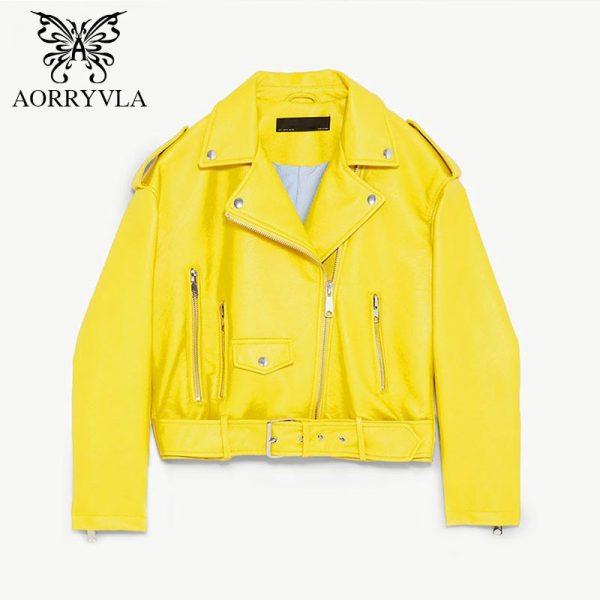 Fashion Leather Jacket Casual Basic Coats