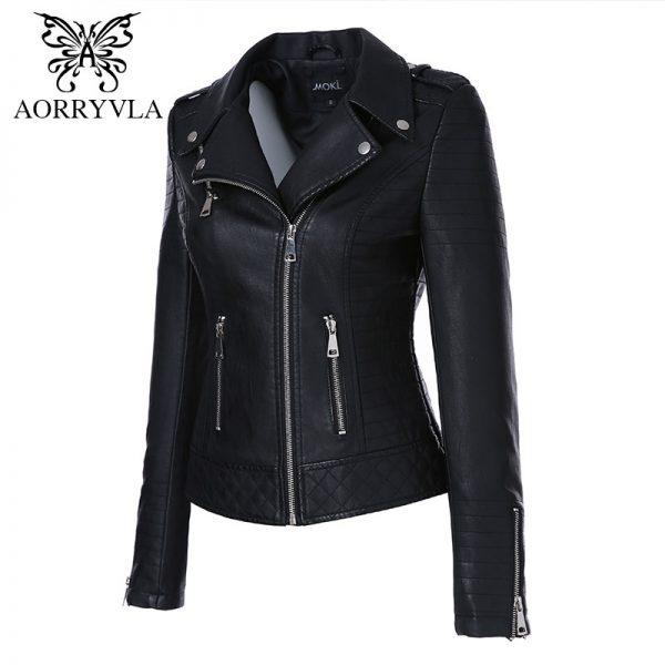 Faux Leather Jackets Women Biker Leather Jacket