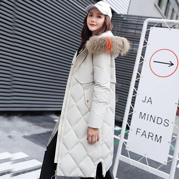 Hooded Fur Collar Women Down Jackets