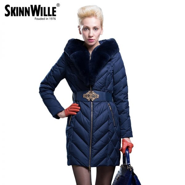 Large Fur Collar Thickening Coat Female Outerwear