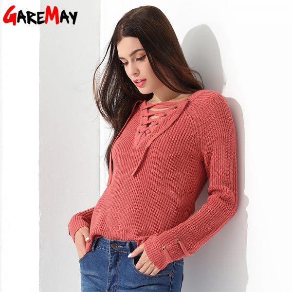 Women Pullover Long Sleeve Knitted Jumper