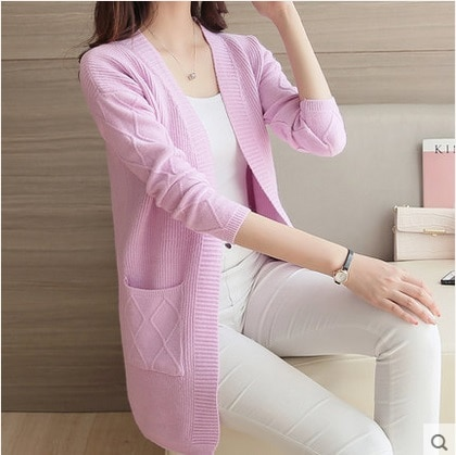 Women Sweater Cardigan Female Cashmere Knitted