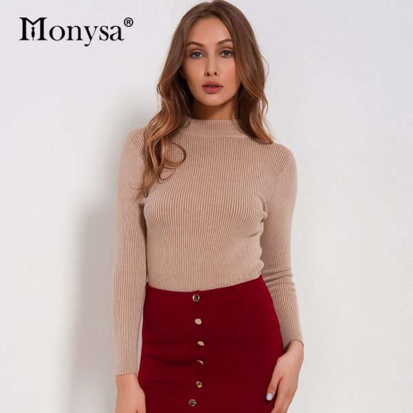 Women Sweaters Casual Pullovers Knitted