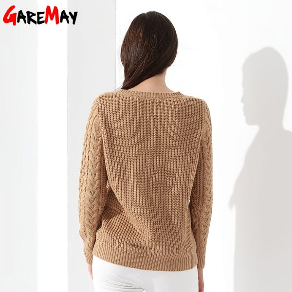 Women Sweaters Long sleeve Knitted Pullovers