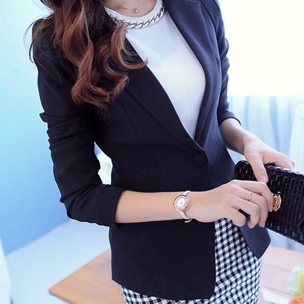 Ladies Blazer Long Sleeve Blaser Women Suit jacket