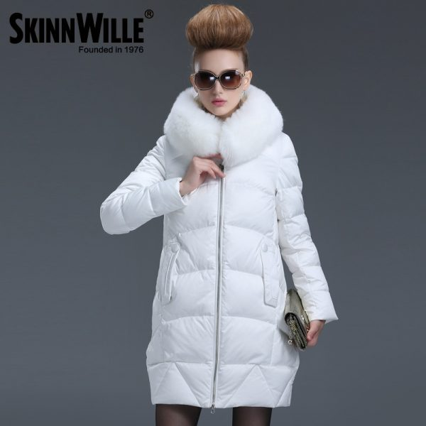 Medium Long Down Coat Fashion Down Parkas