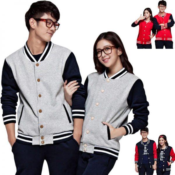 Slim Baseball Coat Outerwear Patchwork Jacket