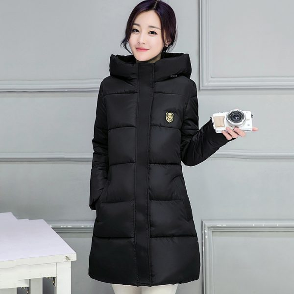 Winter Hooded Jacket Female Outwear Coat