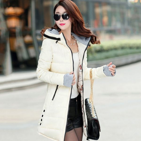 Women Hooded Warm Coat Cotton Padded Jacket