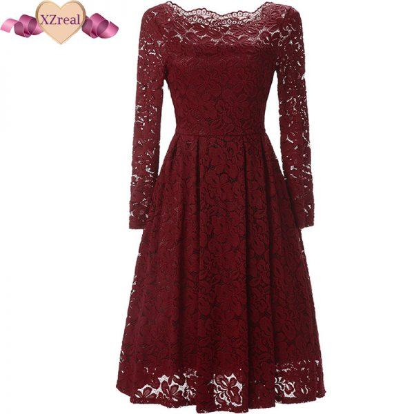 Crochet Lace Dress Rockabilly Party Dresses