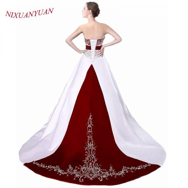 Elegant Embroidery Vintage Floor Length Gown