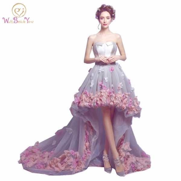 Flowers Prom Dresses Fashion Party Formal Gown