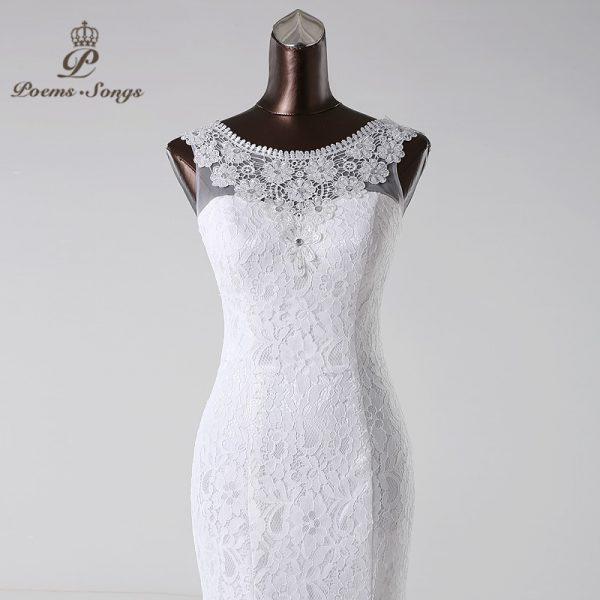 Lace mermaid Wedding Dress Mariage Bridal Dress