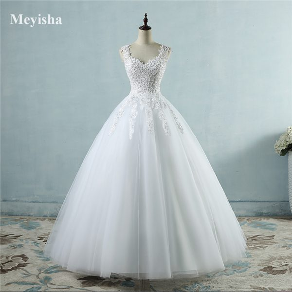 Novia Tulle Wedding Dress Pearls Bridal Dresses