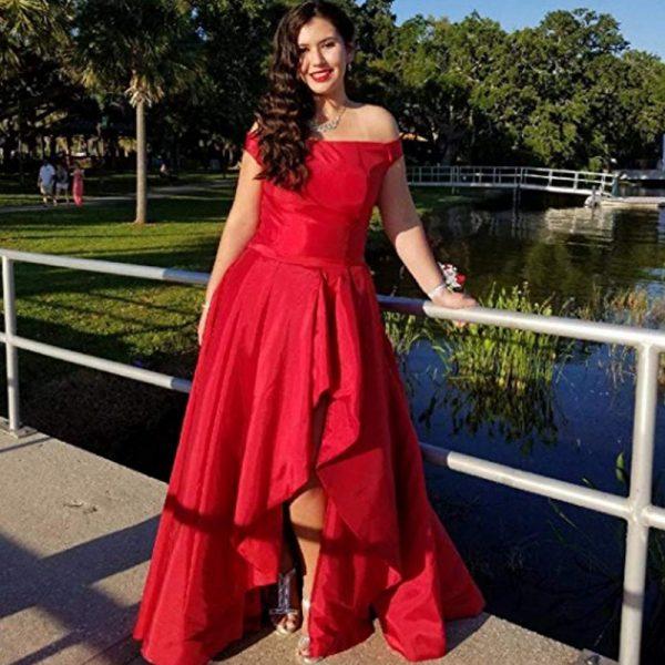 Off Shoulder Vestidos Long Evening Prom Dresses