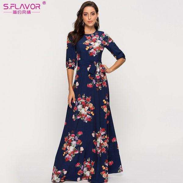 Bohemian Women Dress Floral Print Beach Dresses