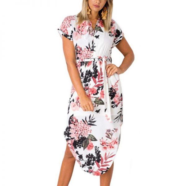 Floral Print Beach Dress Fashion Boho Summer Dresses