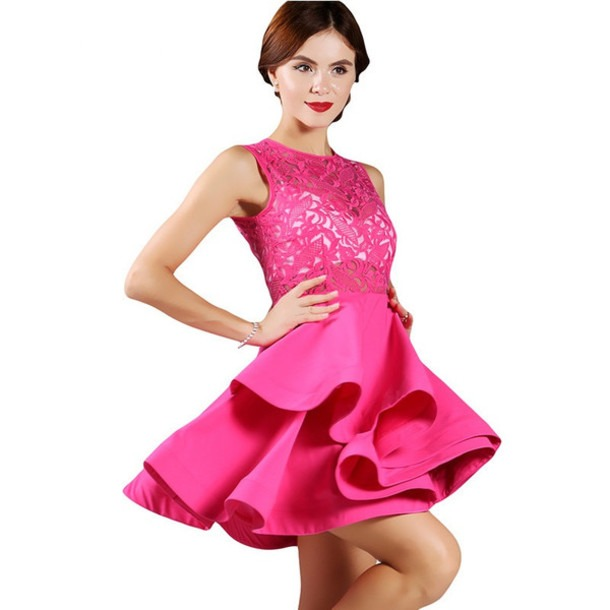 Hot Pink Dresses For Workplace Events