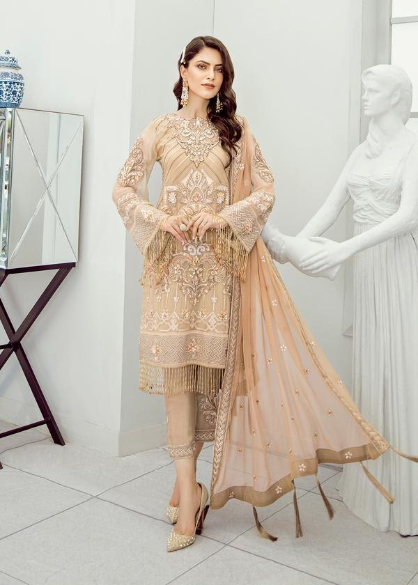 Stylish Engagement Dresses for Brides Who Wear Lehengas